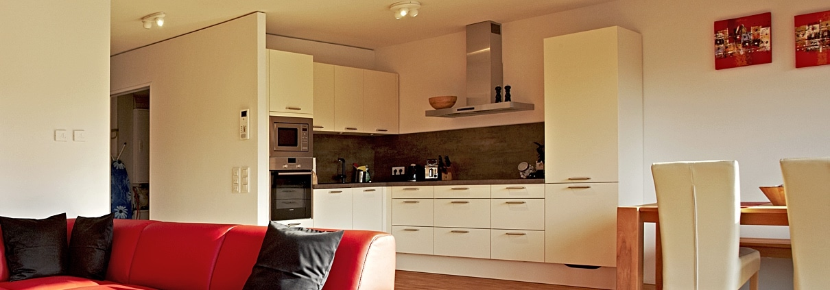Living, dining and kitchen