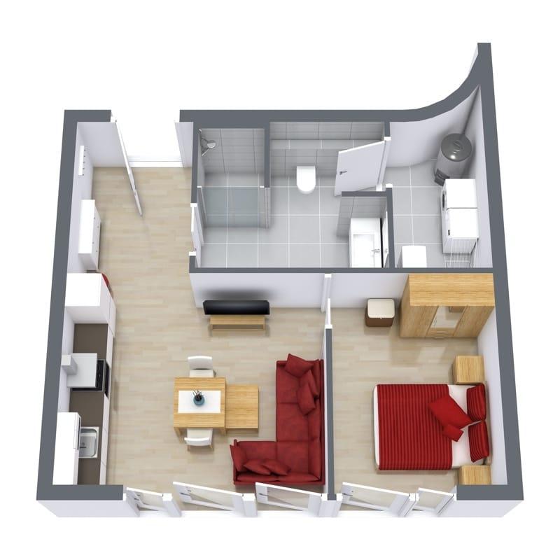 Ninety Degrees Apartments: Cozy 1-Bedroom Business Apartment Stuttgart