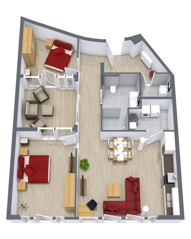 Ninety Degrees Apartments: 2-Bedroom Corporate Apartment Stuttgart