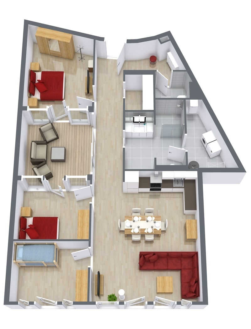 Penthouse 4.8 - Floor Plan